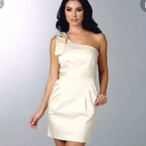 French Connection One Shoulder Beige Dress Size 2